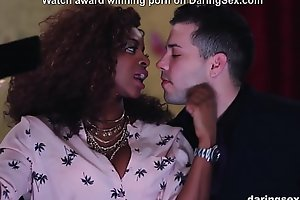 Black girl is a deluxe escort and fucks her big booty hard