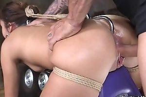 Antique dealer anal fucked in her shop