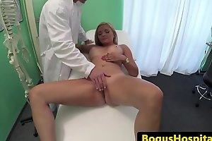 Amateur patient cockriding doctor for his cum