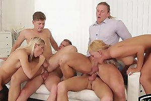 Assfucked euro hunks plowed in bisexual orgy
