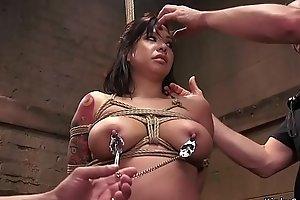 Wet Asian slave anal banged bdsm