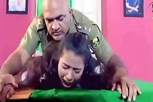Army officer is forcing a lady to hard sex in his cabinet
