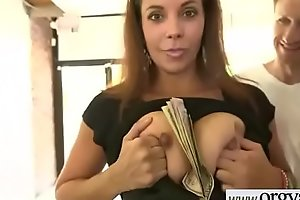 Superb Hot Girl (Ryan Grey) For Cash Get Hard Nailed In Front of Cam vid-26