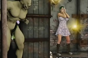3D Girls vs Orc and Werewolf