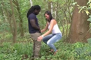 Austrian Girl BLACKED in the Forest