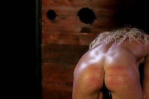 Two fit slut trained with a cane