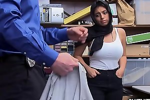 Stunning brunette with big tits gets spreadeagle fuck!
