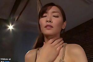 Japanese beauty in stockings hard bondage sex