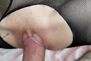 Sleeping little schoolgirl daughter gets awakened by daddy's porn video  dick and loves it!