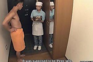 Japanese delivery girl, Lulu Kinouchi got nailed for mistake, uncensored