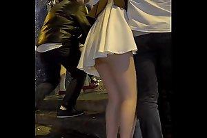 Hong Kong drunk girl without underwear