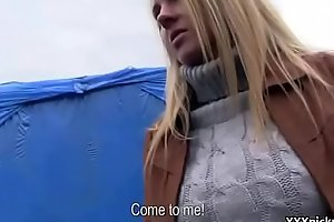Public Dick Sucking For Cash With Czech Amateur Teen 30