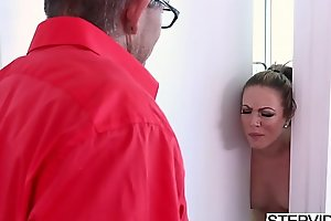 Stepmom Carmen Valentina indigence violate their way stepson