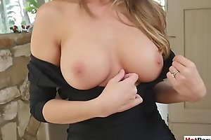 My frustrated busty MILF stepmother wants my chubby cock