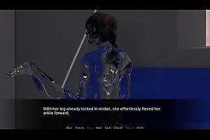 Footjob and Legjob from Sentient AI Girl