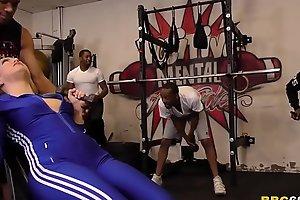 Carmen Valentina Gets Gangbanged By Big Black Weenies