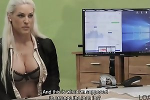 LOAN4K. Agent promisses a lot of money to chick is that babe pleases him