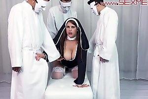 Alexandra Paris baptized with cum into the church of sexmex