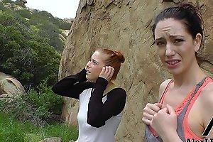 Hottest Hiking 3some! Alex Legend Fucks Sarah Shevon &_ Penny Pax!