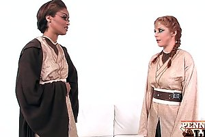 Hottest Lesbian Cosplay With Penny Pax &_ Skin Diamond!