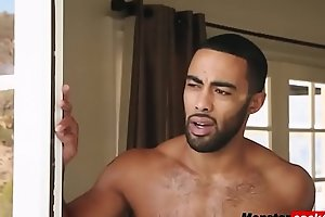 Muscled black man fucks young brunette Taylor May and cripples her pussy