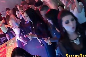 Cfnm partying teen sucks