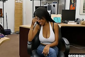 Real Backroom Sex: Busty Dark Beauty Brittney White Fucks At Pawn Shop